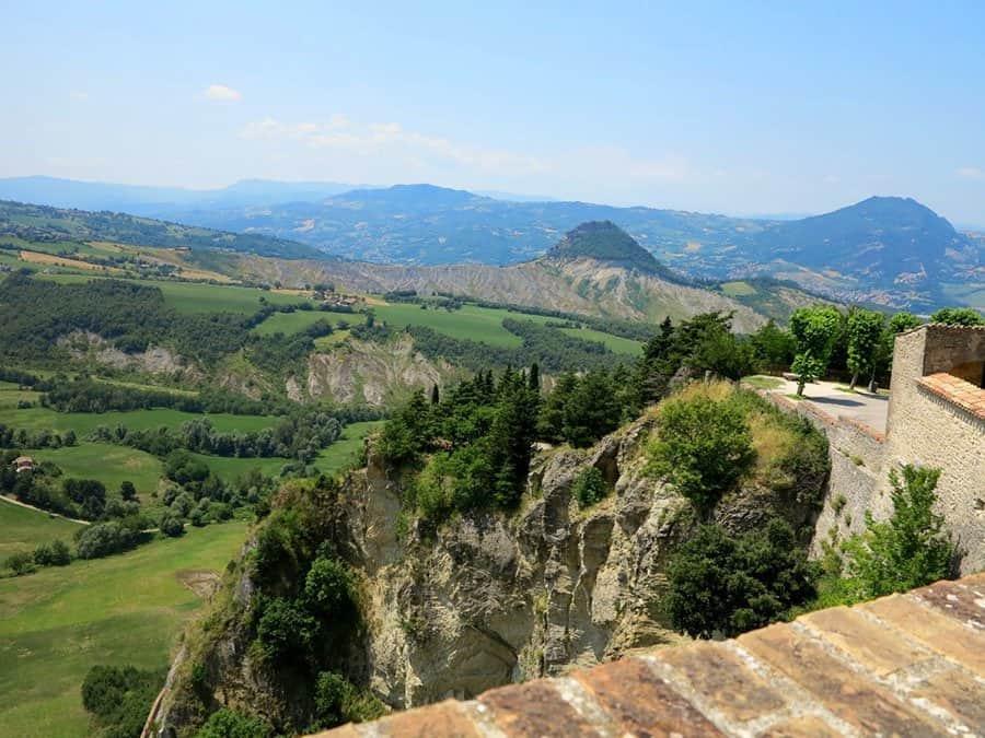 Vista sulla Valmarecchia da San Leo