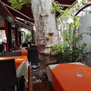 Pizzeria e ristorante di Bellaria con tavoli all'aperto