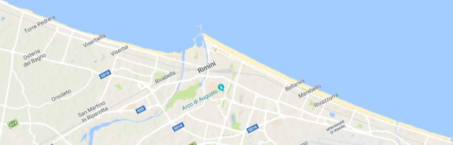 frazioni di Rimini sul mare